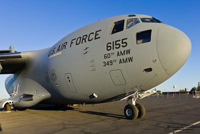 SACRAMENTO, CA - SEPT 8: Boeing C-17 Globemaster III aircraft on display during California Capital Airshow on September 8, 2012 at Mather Airport, Sacramento, CA.