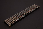 Chinese old vintage abacus isolated on black background
